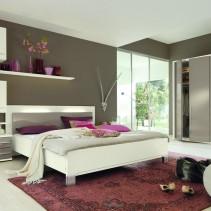 Schlafzimmer, Bett, Kleiderschrank