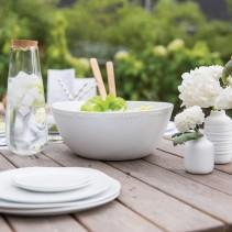 Geschirr, Tisch, Vasen, Karafe, Salatschale, Blumen